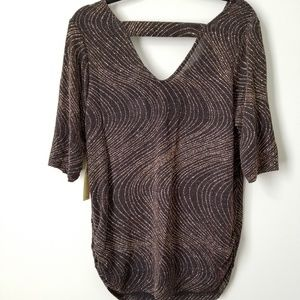 Perseption Tops - NWT Gold Sparkle Top